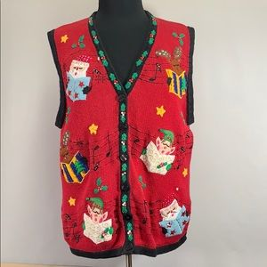 Bobby Brown Christmas Sweater Vest